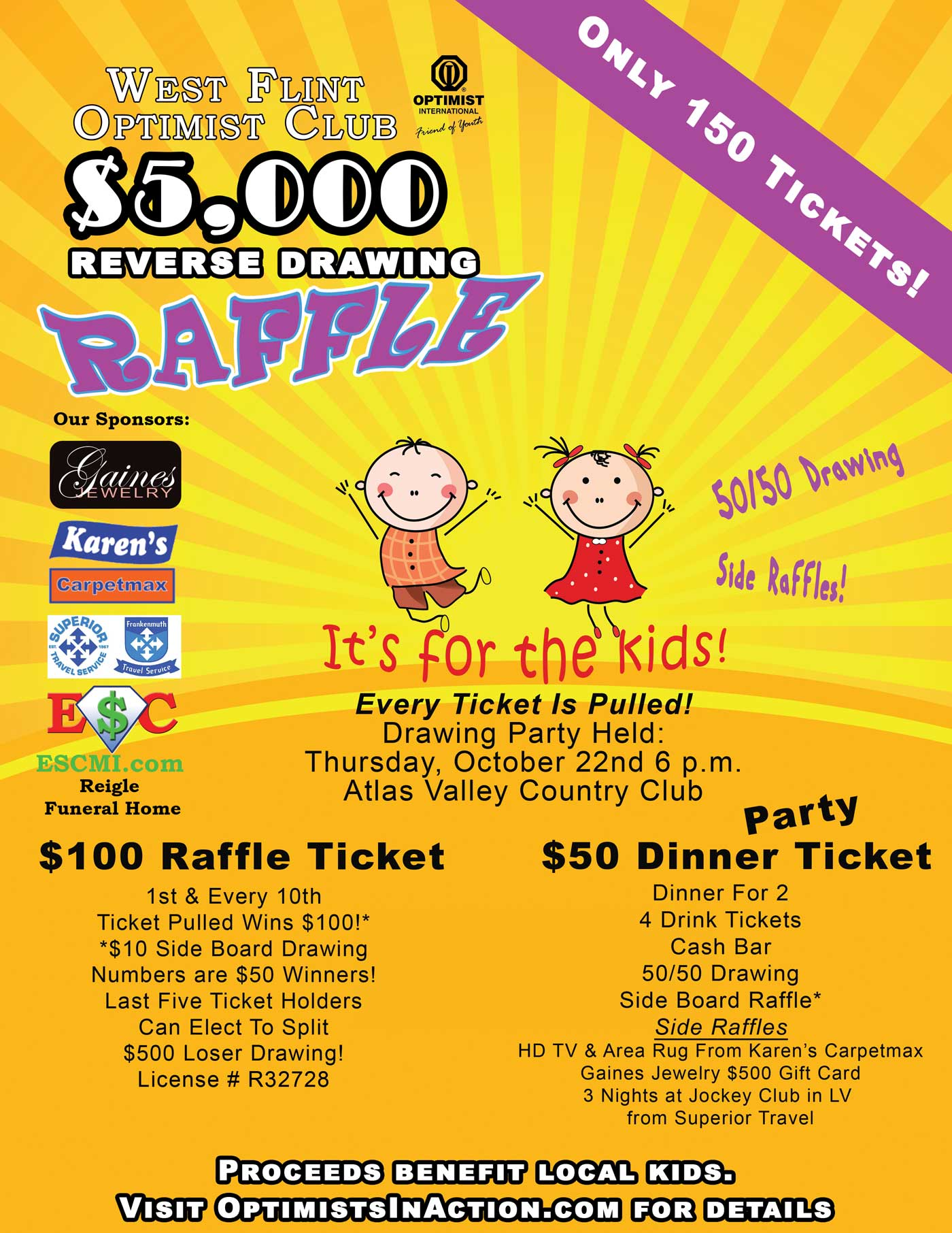 187 West Flint Optimists Hosts 29th Annual 5 000 Reverse Raffle